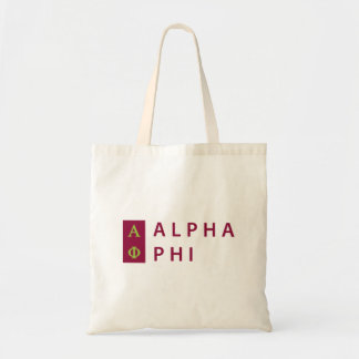 Alpha Phi   Stacked Tote Bag