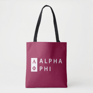 Alpha Phi | Stacked Tote Bag