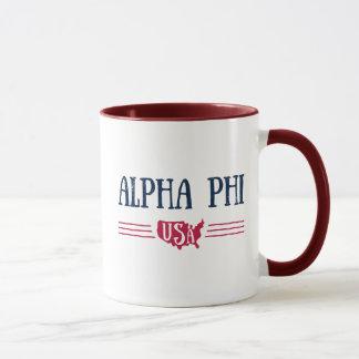 Alpha Phi USA Mug