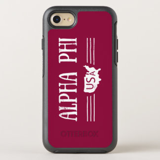 Alpha Phi USA OtterBox Symmetry iPhone 8/7 Case