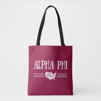 Alpha Phi USA Tote Bag