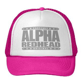 ALPHA REDHEAD - I'm A Fiery Phoenix Rising, Silver Trucker Hat