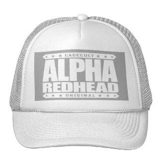 ALPHA REDHEAD - I'm A Fiery Phoenix Rising, White Cap