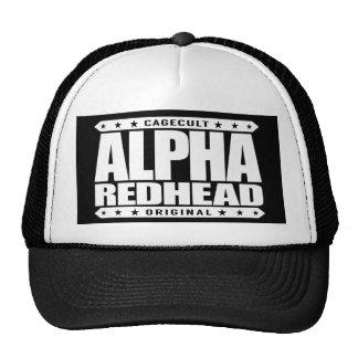 ALPHA REDHEAD - I'm A Fiery Phoenix Rising, White Trucker Hat