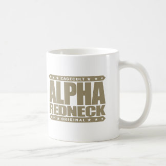 ALPHA REDNECK - Proud Conservative Cowboy, Gold Coffee Mug