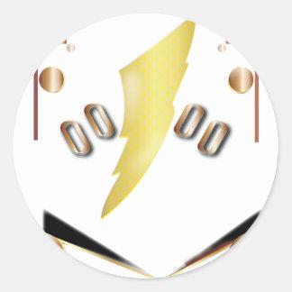 alpha round sticker