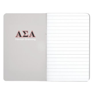 Alpha Sigma Alpha Black an Red Letters Journal