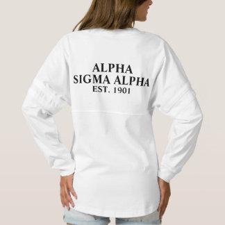 Alpha Sigma Alpha Black Letters Spirit Jersey