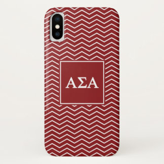 Alpha Sigma Alpha | Chevron Pattern iPhone X Case