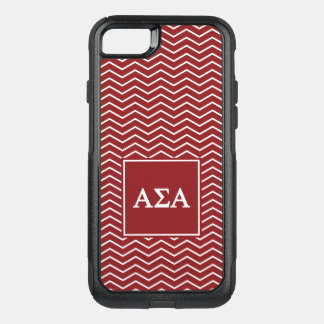 Alpha Sigma Alpha | Chevron Pattern OtterBox Commuter iPhone 7 Case