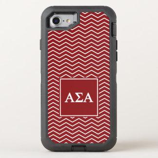 Alpha Sigma Alpha | Chevron Pattern OtterBox Defender iPhone 7 Case