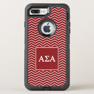 Alpha Sigma Alpha | Chevron Pattern OtterBox Defender iPhone 8 Plus/7 Plus Case