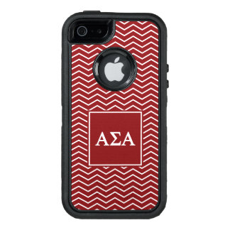 Alpha Sigma Alpha | Chevron Pattern OtterBox Defender iPhone Case