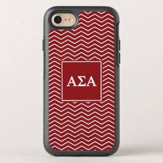 Alpha Sigma Alpha | Chevron Pattern OtterBox Symmetry iPhone 7 Case