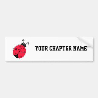 Alpha Sigma Alpha Ladybug Bumper Sticker