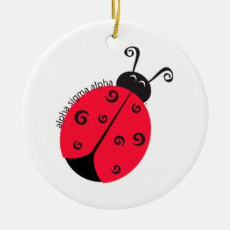 Alpha Sigma Alpha Ladybug Christmas Ornament