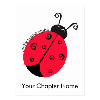 Alpha Sigma Alpha Ladybug Postcard