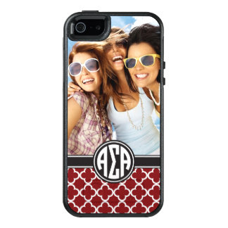 Alpha Sigma Alpha | Monogram and Photo OtterBox iPhone 5/5s/SE Case