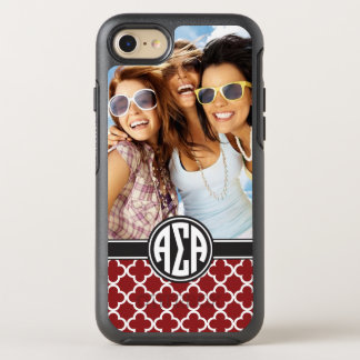 Alpha Sigma Alpha | Monogram and Photo OtterBox Symmetry iPhone 8/7 Case