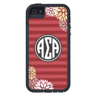 Alpha Sigma Alpha | Monogram Stripe Pattern iPhone 5 Cover