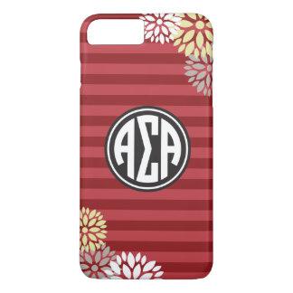 Alpha Sigma Alpha   Monogram Stripe Pattern iPhone 8 Plus/7 Plus Case
