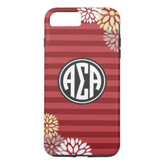 Alpha Sigma Alpha | Monogram Stripe Pattern iPhone 8 Plus/7 Plus Case