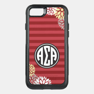 Alpha Sigma Alpha | Monogram Stripe Pattern OtterBox Commuter iPhone 8/7 Case