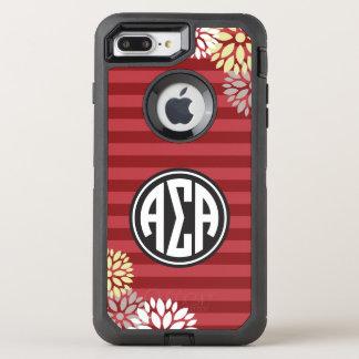 Alpha Sigma Alpha | Monogram Stripe Pattern OtterBox Defender iPhone 8 Plus/7 Plus Case