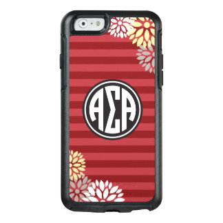 Alpha Sigma Alpha | Monogram Stripe Pattern OtterBox iPhone 6/6s Case