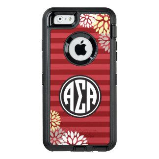 Alpha Sigma Alpha   Monogram Stripe Pattern OtterBox iPhone 6/6s Case