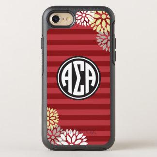 Alpha Sigma Alpha | Monogram Stripe Pattern OtterBox Symmetry iPhone 8/7 Case
