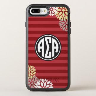 Alpha Sigma Alpha | Monogram Stripe Pattern OtterBox Symmetry iPhone 8 Plus/7 Plus Case