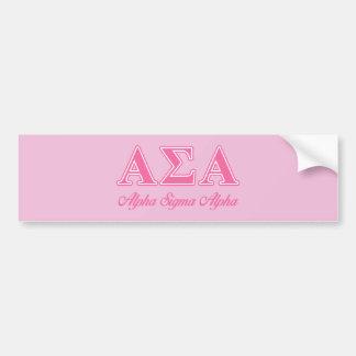 Alpha Sigma Alpha Pink Letters Bumper Sticker