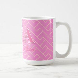 Alpha Sigma Alpha Pink Letters Coffee Mug