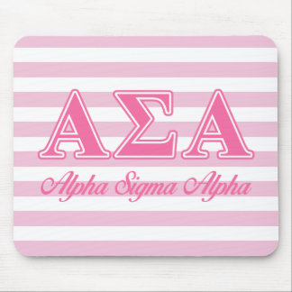 Alpha Sigma Alpha Pink Letters Mouse Mat