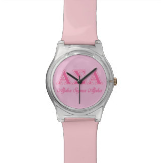 Alpha Sigma Alpha Pink Letters Watch