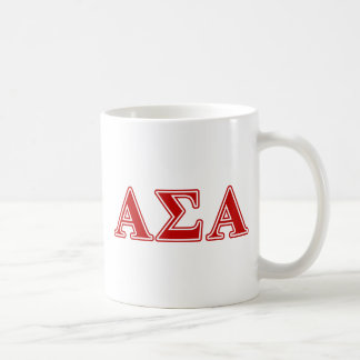 Alpha Sigma Alpha Red Letters Coffee Mug