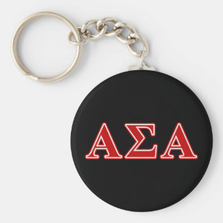 Alpha Sigma Alpha Red Letters Key Ring