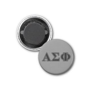 Alpha Sigma Phi Black Letters 3 Cm Round Magnet