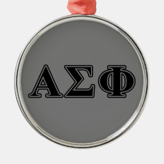 Alpha Sigma Phi Black Letters Christmas Ornament