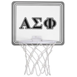 Alpha Sigma Phi Black Letters Mini Basketball Hoop