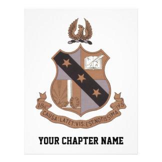 Alpha Sigma Phi Crest 21.5 Cm X 28 Cm Flyer