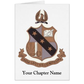 Alpha Sigma Phi Crest Card
