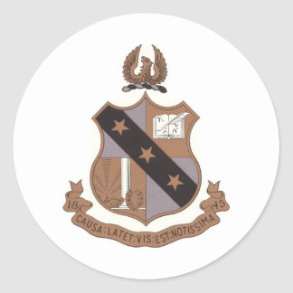 Alpha Sigma Phi Crest Classic Round Sticker
