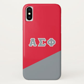 Alpha Sigma Phi | Greek Letters iPhone X Case