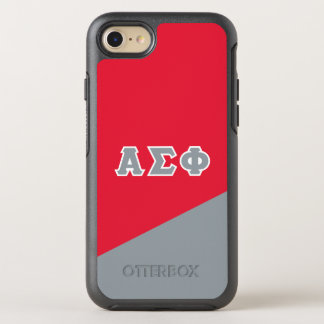Alpha Sigma Phi | Greek Letters OtterBox Symmetry iPhone 8/7 Case