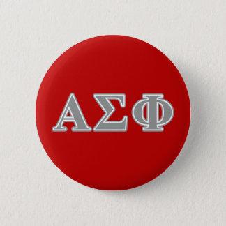 Alpha Sigma Phi Grey Letters 6 Cm Round Badge