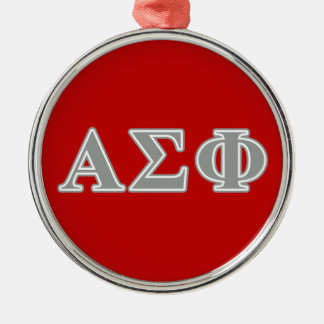 Alpha Sigma Phi Grey Letters Christmas Ornament
