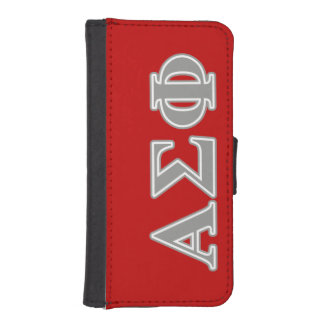 Alpha Sigma Phi Grey Letters iPhone SE/5/5s Wallet Case