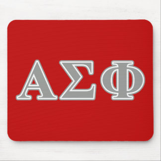 Alpha Sigma Phi Grey Letters Mouse Mat